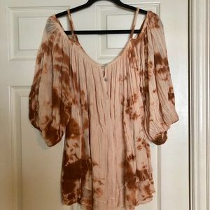 Burnt orange tie dye tunic